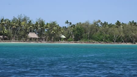 fijian : Nanuya Levu island in the Yasawa Group in Fiji. It is the site of the Turtle Island Resort for the rich and famouse and also the set location for the romance adventure film The Blue Lagoon (1980). Stock Footage