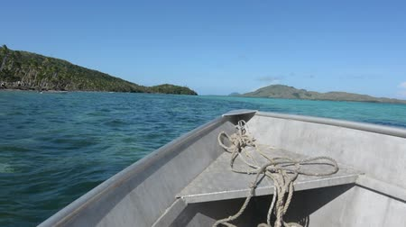 melanesia : Landscape of one of the Yasawa islands from a boat.The Yasawa Islands of Fiji are a volcanic archipelago lying north West to the main Island of Fiji, Viti levu. The group, is a very popular tourist destination.