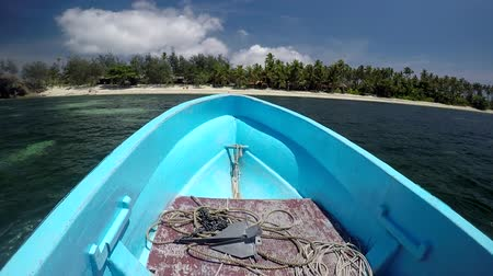 fiji : Landscape of one of the Yasawa islands from a boat.It is a volcanic archipelago lying north West to the main Island of Fiji, Viti levu. The group, is a very popular tourist destination. Stock Footage