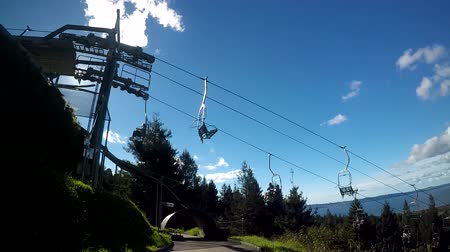 luge : POV of a person ride on Skyline Rotorua Luge. Its a gravity fun ride. Invented in New Zealand in 1985, and having hosted over 30 million rides worldwide. Stock Footage