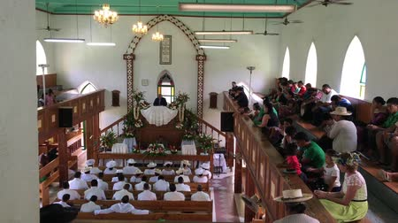 ck : Cook Islanders pray at CICC church. 94% of Cook Islanders (14,974) associated themselves with a faith.The Cook Islands Christian Church (CICC) dominant with 49% (7,356) members.