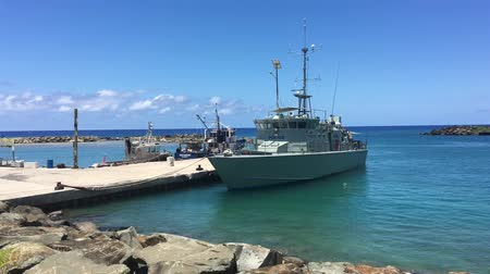 avarua : Te Kukupa patrol boat.Its one of 22 patrol boats built by Australia and donated to 12 South Pacific countries as part of their military, coast guard or police force. Stock Footage