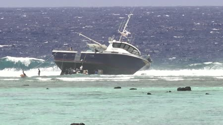 ck : Grounding of a domestic longline fishing boat FV Zambucca on a reef in Rarotonga Cook Islands Could pose an environmental threat to the area.
