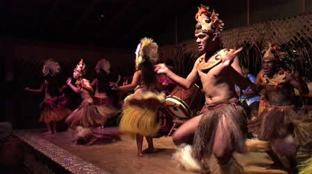 cook islanders : Polynesian Pacific Islands dance in cultural show in Rarotonga, Cook Islands.The islanders are of the Maori race linked in culture and language to the Maohi of French Polynesia.