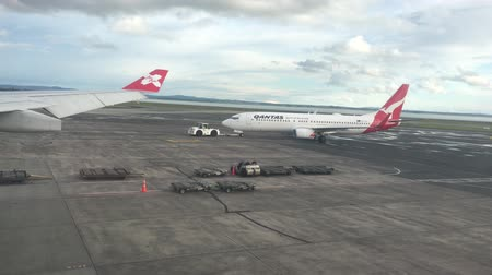 Qantas airplane in Auckland Airport.Qantas Airways is the flag carrier of Australia and its largest airline by fleet size, international flights and international destinations.