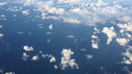 Aerial landscape view of Cloudscape above the Tasman Sea Стоковые видеозаписи