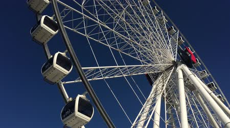 Wheel of Brisbane Ferris wheel in South Brisbane, Queensland Australia.It is 60 metres tall.