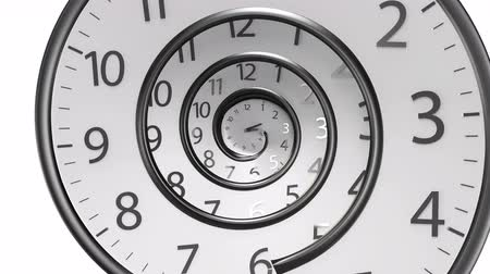 minutos : Round Clock Time running backwards 3D Rendering isolated from the white background