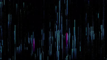 пиксель : Pixel field of particular dots and vertical lines go up from down in looped animation