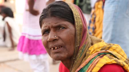 asian and indian ethnicities : old Indian Women at temple