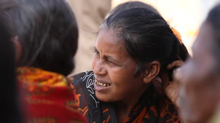 indian ethnicity : closeup of old Indian Women