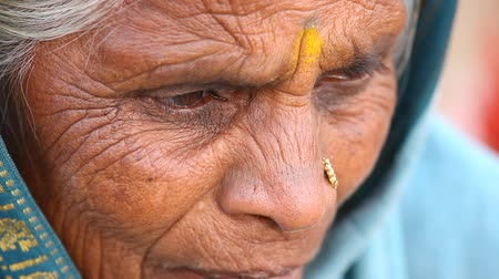 indian ethnicity : old Indian Women at temple