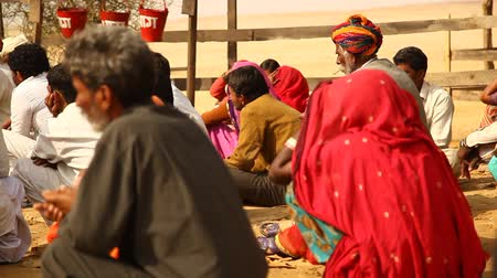 rural area : Indian Poor people at Desert Train station