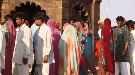 Indian Poor people at Desert Train station