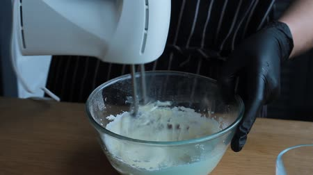 Cooking cheese and cream cheese cake for making nut-banana cake