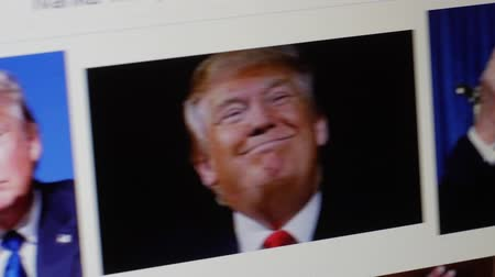 donald trump : Vilnius, Lithuania, on January 30, 2016.Illustrative editorial picture. US President Donald Trump images on a computer screen.
