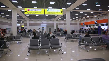 aguardando : The waiting room at the airport Stock Footage