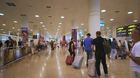 reception : At the airport Stock Footage