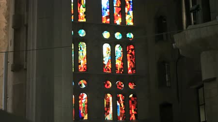 catedral : stained-glass window of Sagrada Familia