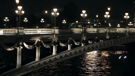 francja : The bridge of Alexander III in Paris at night
