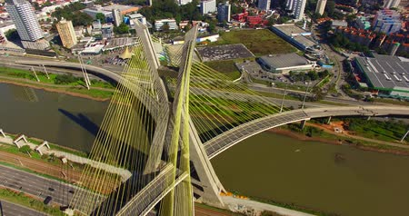 state capital : Cable-stayed bridge in the world, Sao Paulo Brazil, South America