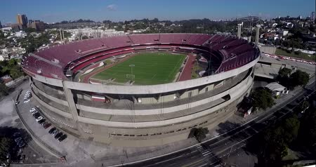 brasil : Sao Paulo Football Club or Morumbi Stadium or Cicero Pompeu Toledo Stadium.  Sao Paulo city, Brazil, South America Video made on 04202015 Stock Footage