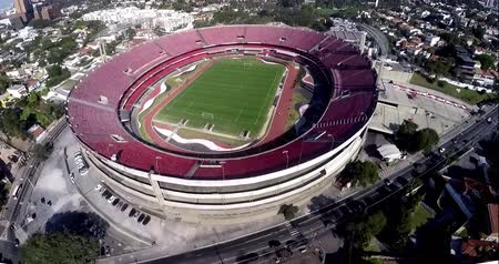 Sao Paulo Football Club or Morumbi Stadium or Cicero Pompeu Toledo Stadium.  Sao Paulo city, Brazil, South America Video made on 04202015 Stock Footage