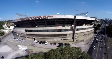 Sao Paulo Football Club or Morumbi Stadium or Cicero Pompeu Toledo Stadium.  Sao Paulo city, Brazil, South America Video made on 04202015 Stok Video