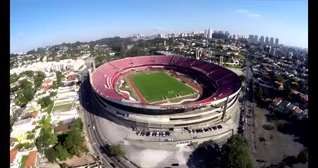 Sao Paulo Football Club or Morumbi Stadium or Cicero Pompeu Toledo Stadium.  Sao Paulo city, Brazil, South America made on 04202015