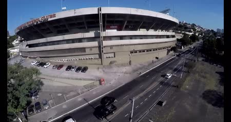 Sao Paulo Football Club or Morumbi Stadium or Cicero Pompeu Toledo Stadium.  Sao Paulo city, Brazil, South America  Video made on 04202015
