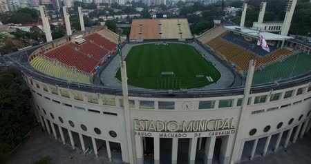 Pacaembu Stadium Sao Paulo Brazil   Video made day 06272016  Name: Municipal Paulo Machado de Carvalho stadium Filming with drone