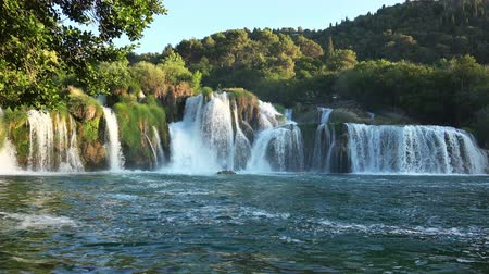 plitvice : Beautiful Great Waterfalls Cascade at Plitvice Lakes National Park, Croatia.