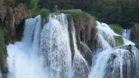 plitvice : Close-up View of Waterfalls Cascade at Plitvice Lakes National Park, Croatia.