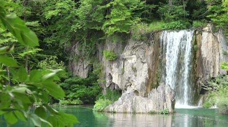 plitvice : Waterfalls Landscape at Plitvice Lakes National Park, Croatia.