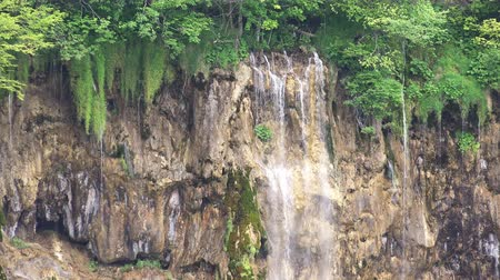 plitvice : Close-up View of Waterfalls Landscape at Plitvice Lakes National Park, Croatia.