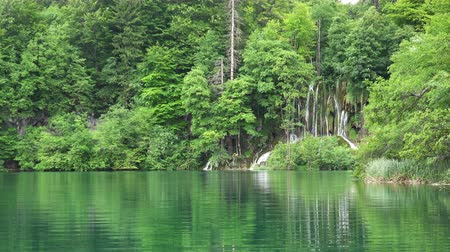 plitvice : Amazing Landscape with Waterfalls at Plitvice Lakes National Park, Croatia.