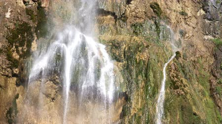 plitvice : Close-up View of Waterfall at Plitvice Lakes National Park, Croatia