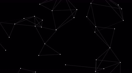 revolução : Loopable blockchain technology network futuristic abstract background with transparent alpha channel. Global cryptocurrency blockchain business banner concept.