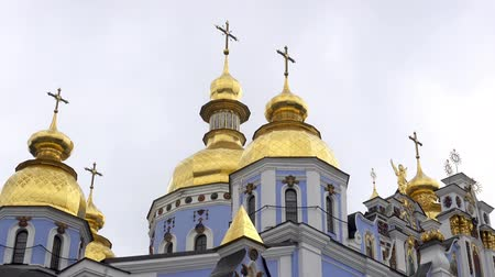 sobor : The majestic golden domes of St. Michaels Cathedral, Kiev, Ukraine