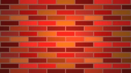 Color brick wall Стоковые видеозаписи