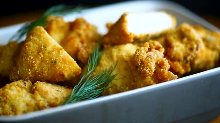 rántott : chicken fried in batter with dill