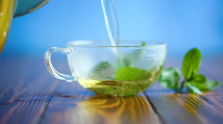 chaleira : hot green tea with fresh mint