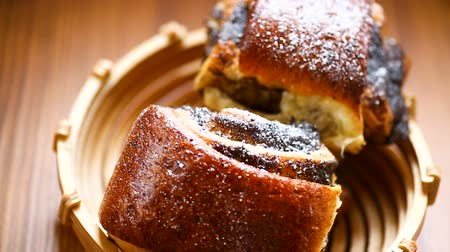 makowiec : sweet homemade buns with poppy seeds in a bowl