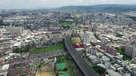 tajvan : Taichung,Taiwan-Jun 21:Aerial top view Provincial highway 74 Next to the Dongying Park.
