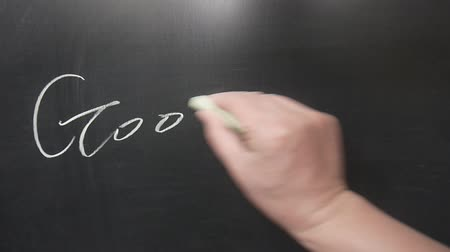 şanslı : Hand writing Good luck words  on chalkboard