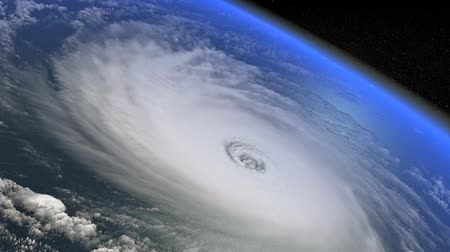 fatality : Hurricane shown from the space CGI simulation Stock Footage