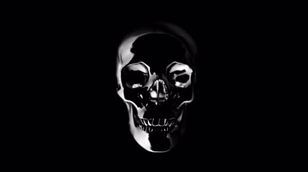 kafatası : Abstract human skull slowly appears from the darkness and disappears