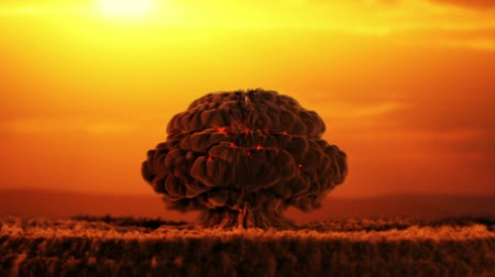 explodir : CG of a nuclear blast (concept) in slow motion Stock Footage