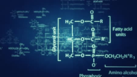 3D chemical formulas animation Stock Footage