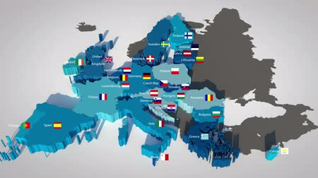 ciprus : 3D map of the European Union with all countries, ordered by year of entry